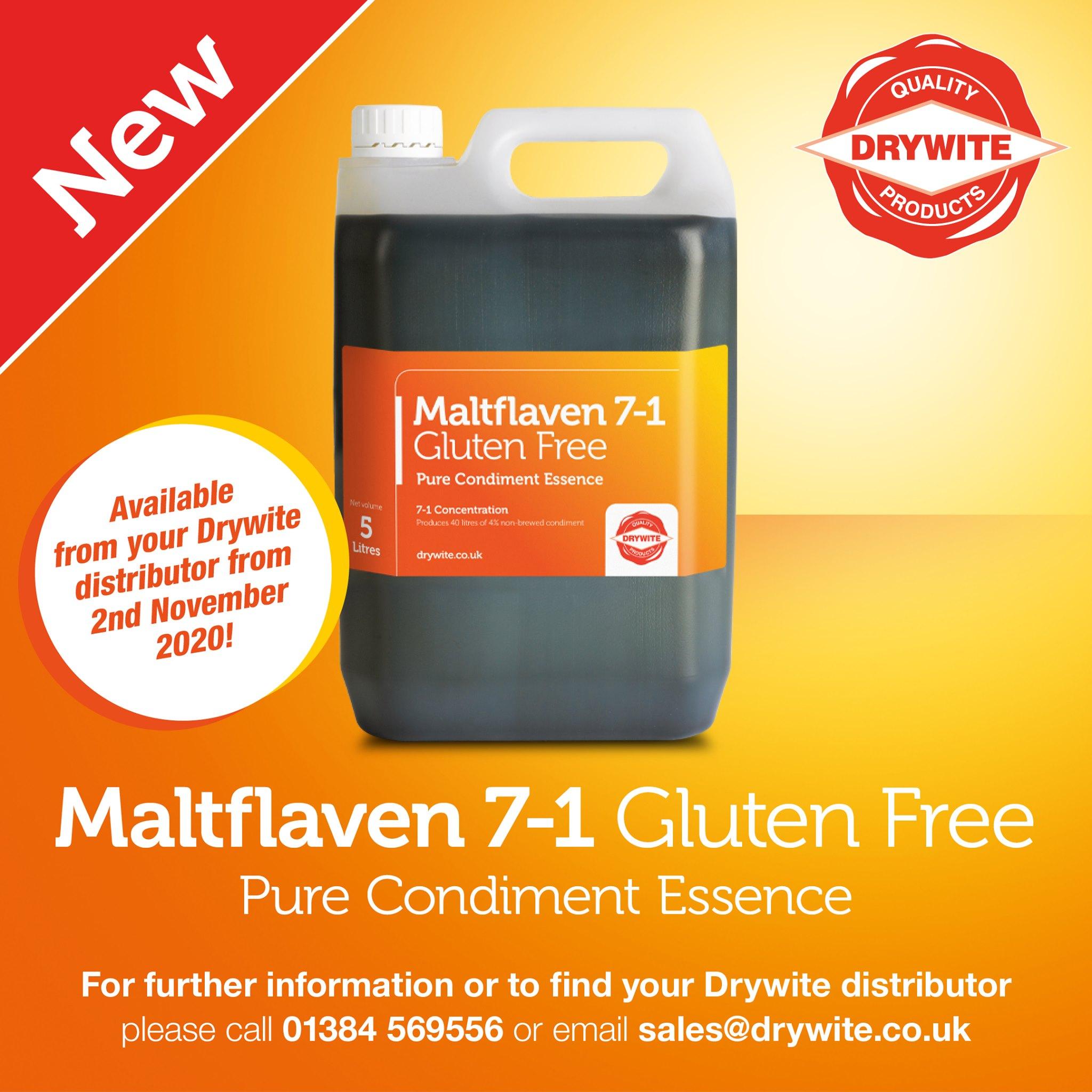 New from Drywite Ltd - Maltfalven 7-1 Gluten Free Pure Condiment Essence!