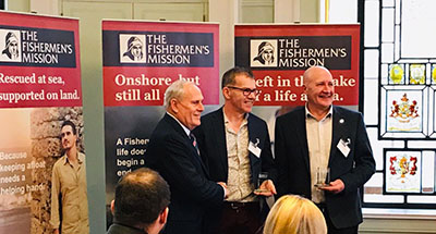 Fundraising duo receive special award at the Fishermen's Mission AGM