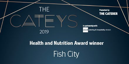 Fish City win Health and Nutrition Award at the Cateys