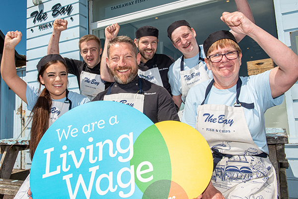 The Bay Fish & Chips has become UK fish and chips shop to be accredited by the Living Wage Foundation for committing to paying employees the 'Real Living Wage'.