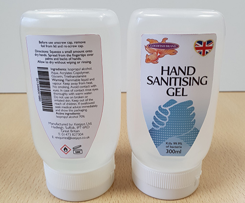 Keejays Ltd Launches Hand Sanitiser for UK Essential Hospitality Workers