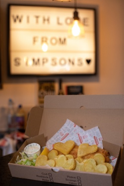 Sharing the love! Heart shaped chips mark national potato lover's day at Simpsons!