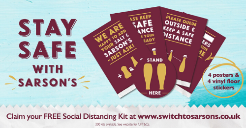 Sarson's Helping Supercharge Social Distancing Signage with Free Support Kit