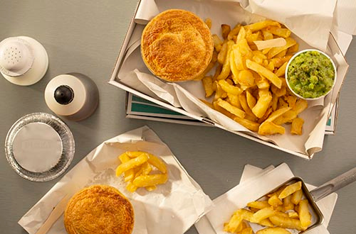 PUKKA and National Federation of Fish Friers work together to deliver pies to the people