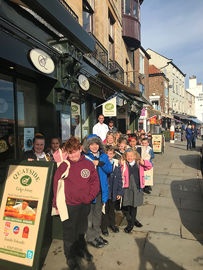Quayside is the plaice to be for local school children