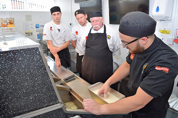 Undertake fish and chip shop training with the NFFF