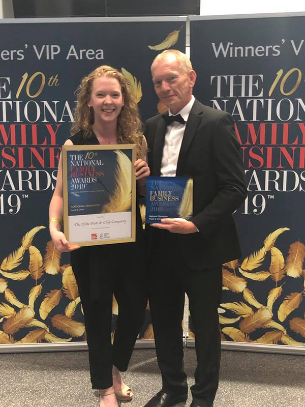 Lincolnshire Chip Shop Crowned National Champions in the Food and Drink Category at the National Family Business Awards