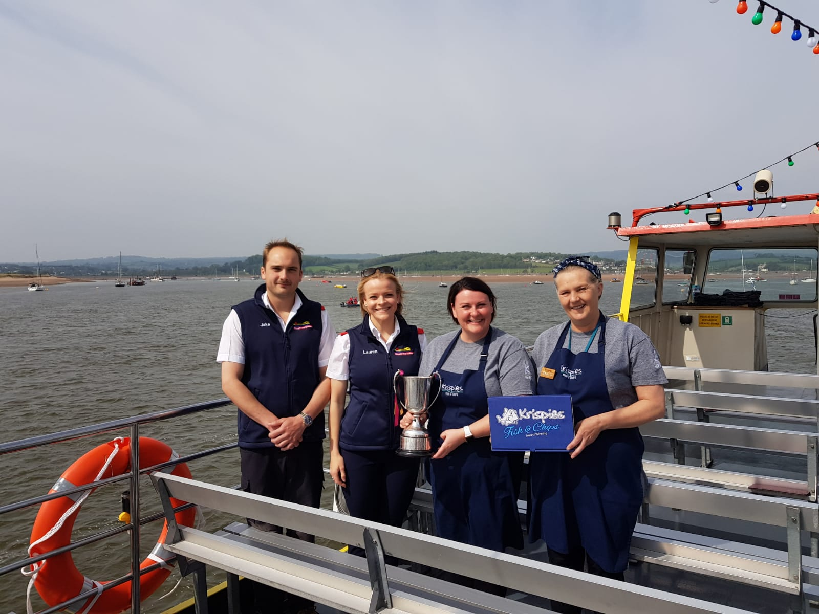 Award Winning Stuart Line Cruises and Krispies Exmouth team up to celebrate National Fish and Chip Day!